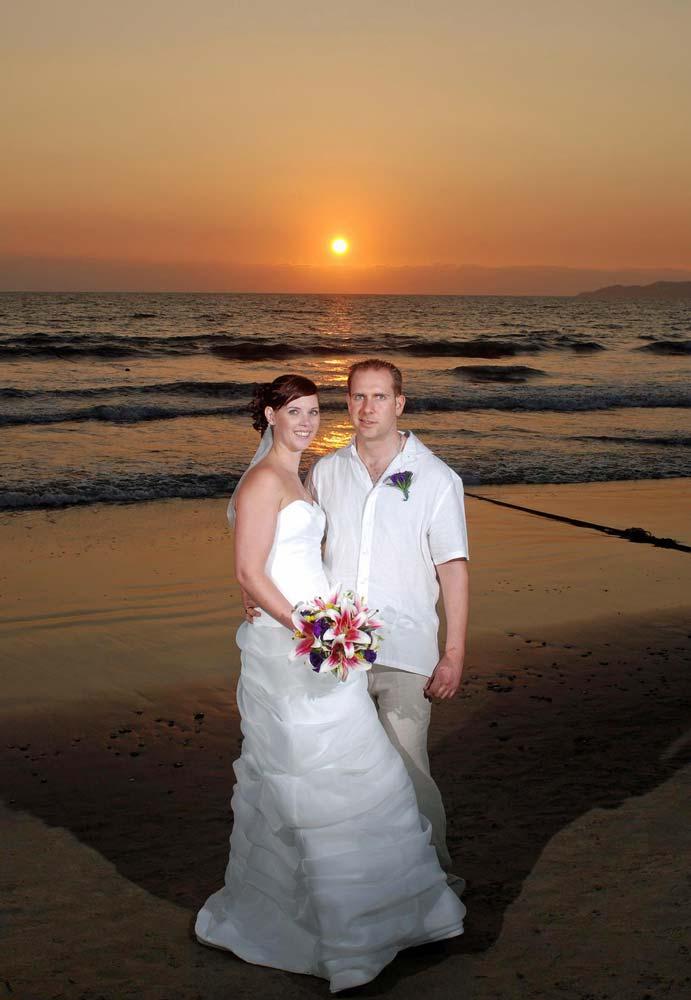 David and Amanda at their wedding